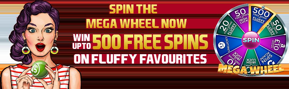 bingo mega wheel bonus