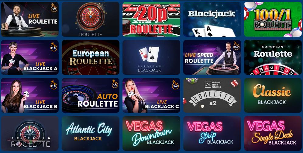 jumpman gaming casino table games
