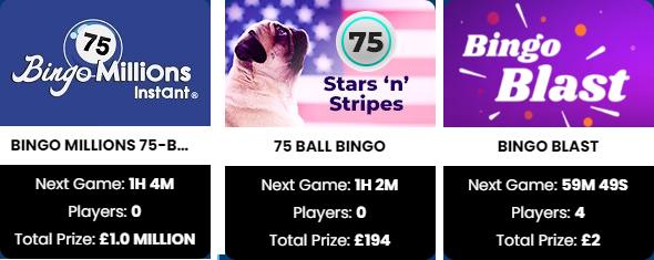 75 Ball & Speed Bingo Games