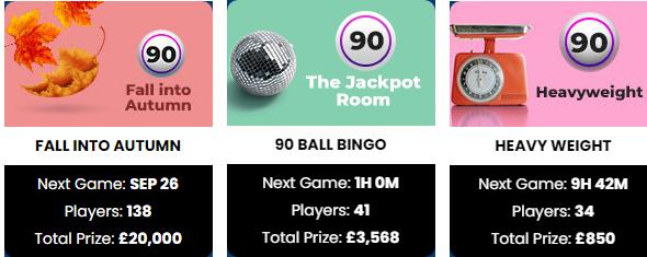 Lady Love Bingo 90 Ball Games