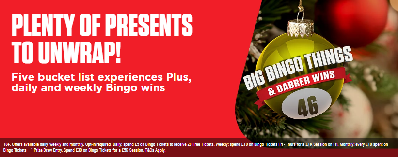 ladbrokes bingo dabber wins