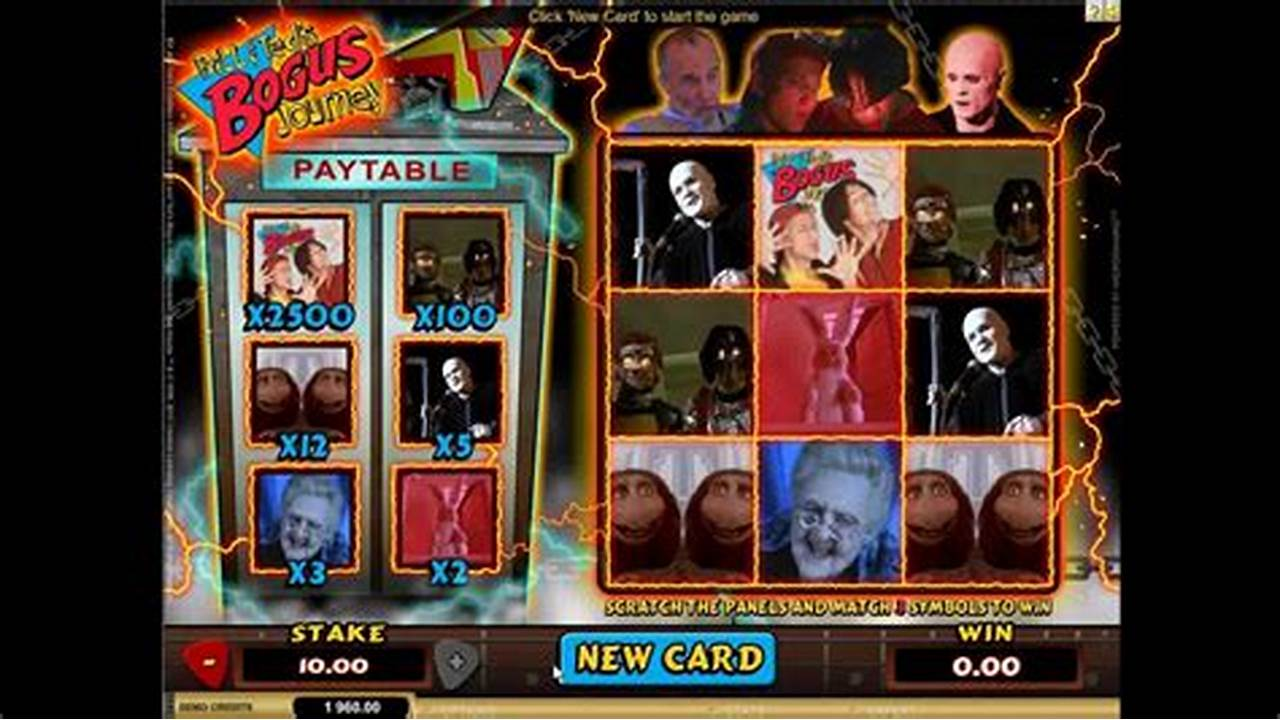 Bill and Ted's Bogus Journey Scratchcard