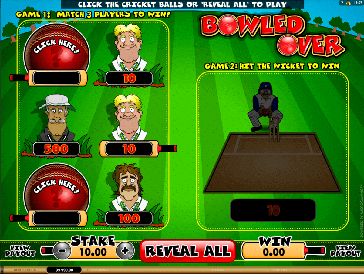 Bowled Over Scratchcard