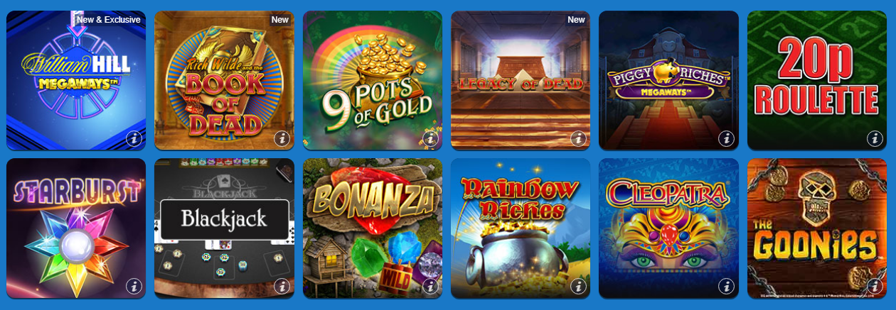 William Hill Bingo Popular Slots and Games