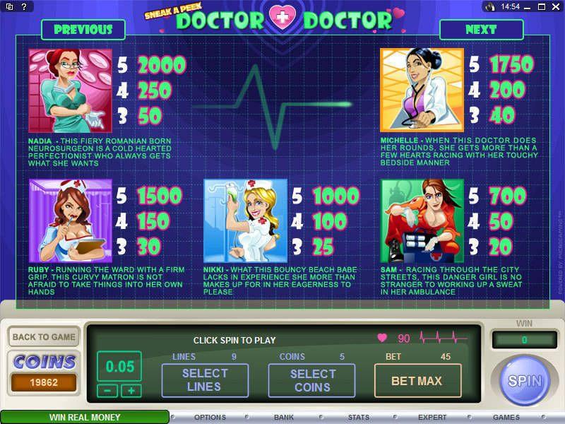 Sneak A Peek Doctor Doctor Slot