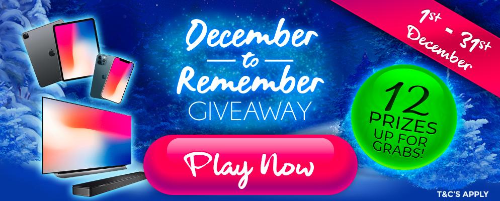 9K December to Remember Giveaway